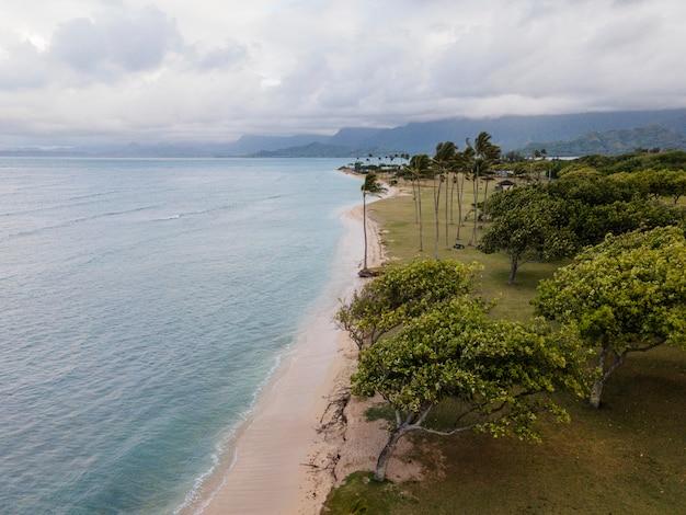 Beau paysage hawaï avec océan