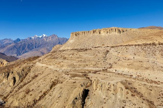 Beau paysage, himalaya, népal