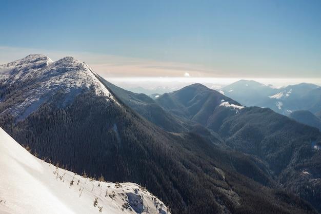 Beau paysage d'hiver.