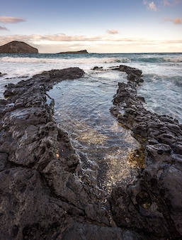 Beau paysage marin de l'océan sur big island, hawaii usa