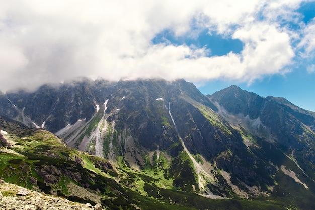 Beau paysage de montagne hautes montagnes de tatras