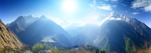 Beau paysage de montagne.