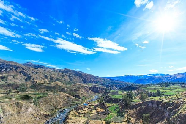 Beau paysage de la nature du pérou