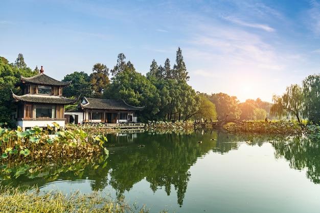 Beau paysage et paysage à west lake, hangzhou