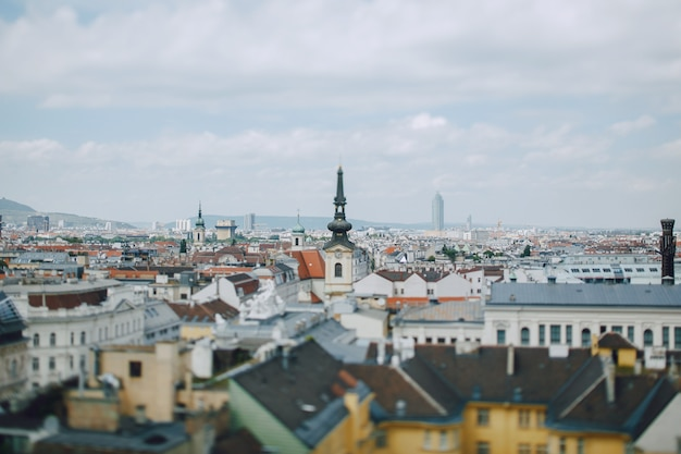 Beau paysage urbain du point de vue