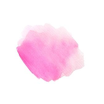 Beau pinceau aquarelle rose