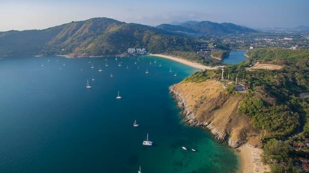 Beau, pittoresque, de, plage naiharn, phuket, sud, de, thailande