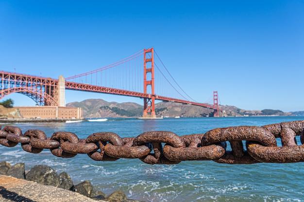 Beau pont du golden gate à san francisco, californie, usa