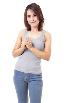 Beau portrait de femme asiatique