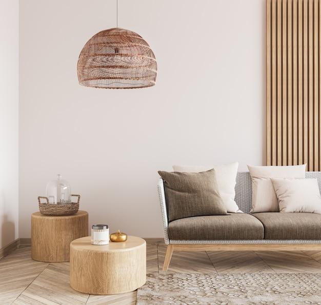 Beau salon avec un design minimaliste