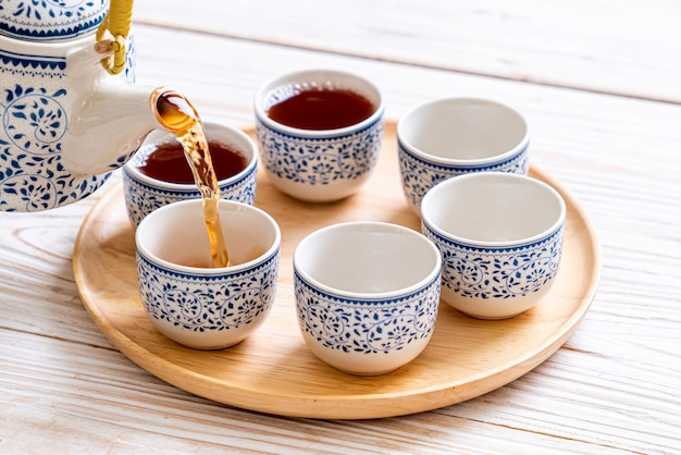Beau service à thé chinois