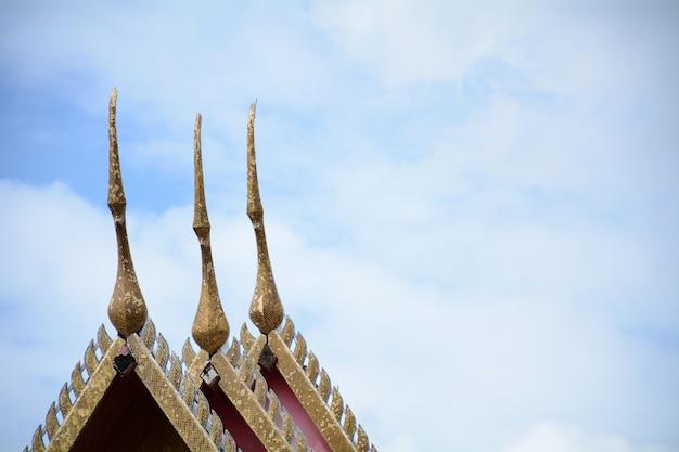 Beau temple de thailande en asie du sud est ancien de bouddha
