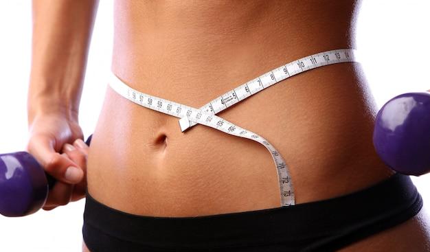 Beau ventre avec mètre et sous-vêtement