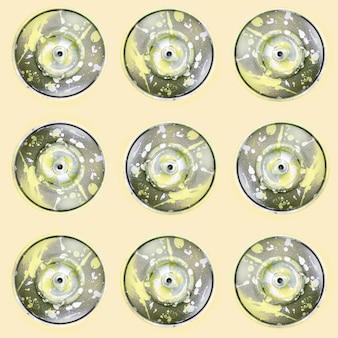 Beaucoup de bombes aérosols utilisées pour les graffitis se trouvent sur un fond de couleur pastel