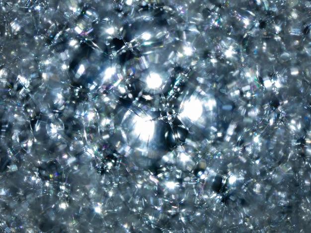 Beaucoup de bulles de savon texture bleu mousse sur le fond abstrait de l'eau