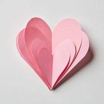 Beaucoup de coeurs roses en arrière-plan. concept de la saint valentin