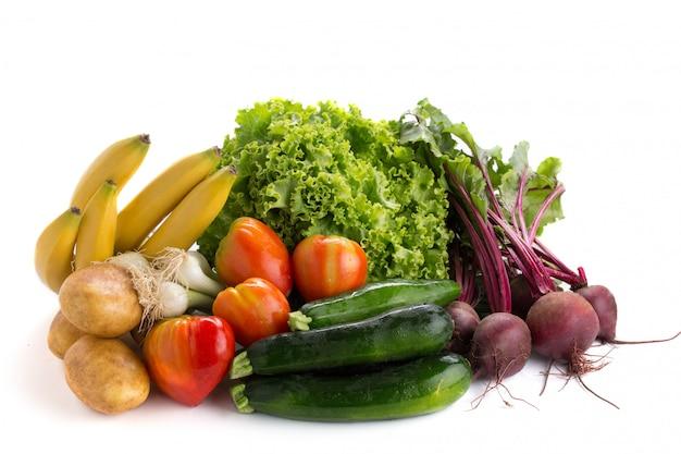 Beaucoup de fruits et de légumes à cuisiner