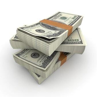 Beaucoup de piles de billets de cent dollars