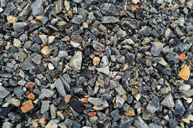 Beaucoup de sol en pierre sale pour le fond