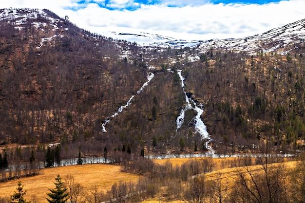 La beauté du nord : la rivière et les montagnes