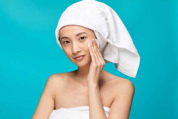 Beauté femme asiatique soins de la peau, beauté