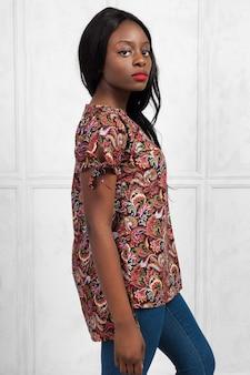 Beauté jeune femme afro-américaine