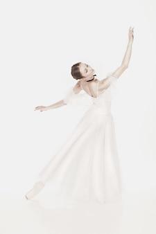 Beauté romantique. ballerine style rétro