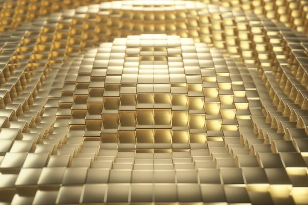 Beaux cubes dorés abstraits