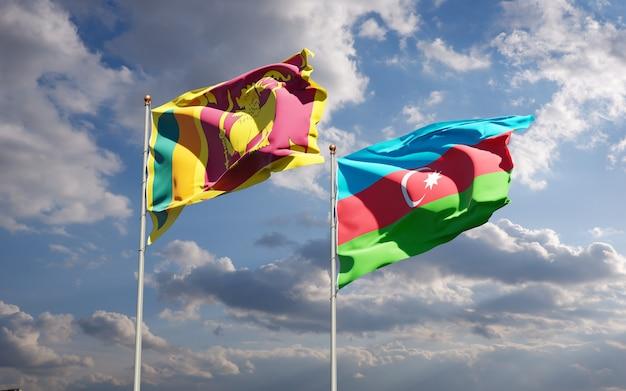 Beaux drapeaux d'état national au fond de ciel