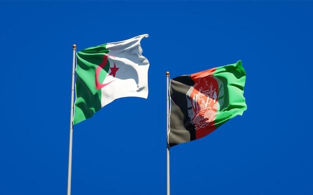 Beaux drapeaux nationaux de l'afghanistan et de l'algérie