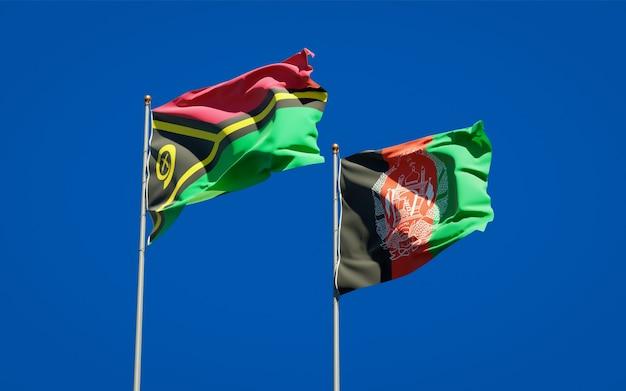 Beaux drapeaux nationaux de l'afghanistan et du vanuatu