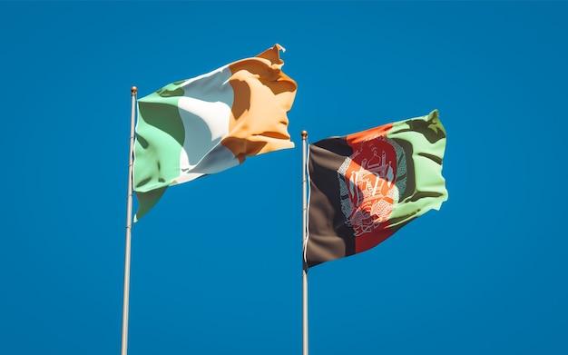 Beaux drapeaux nationaux d'afghanistan et d'irlande