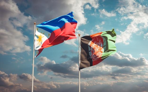 Beaux drapeaux nationaux de l'afghanistan et des philippines