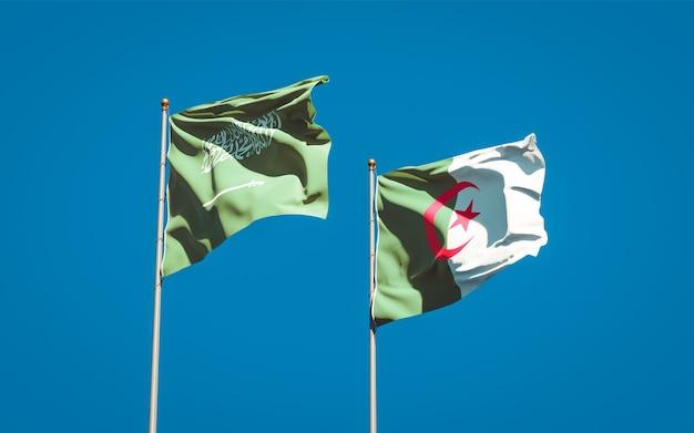 Beaux drapeaux nationaux contre le ciel