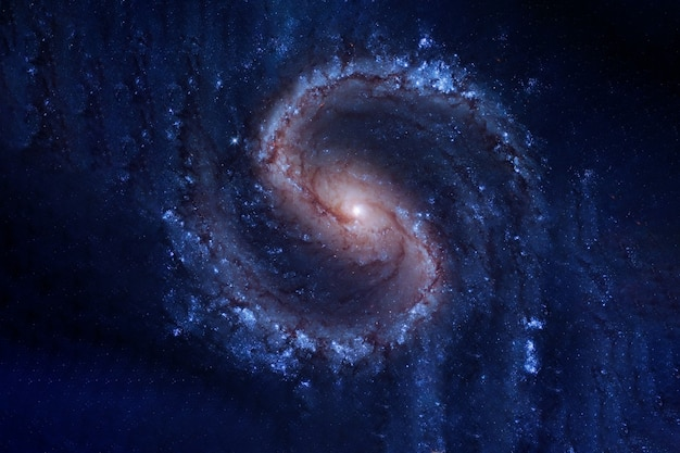 Les beaux éléments de la galaxie spirale de cette image ont été fournis par la nasa