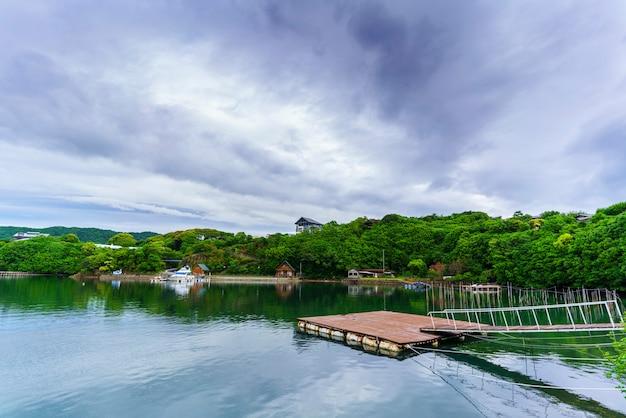 Beaux paysages de la baie d'ago , ville de shima , mie , japon