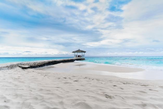 Beaux paysages de l'île tropicale des maldives
