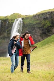 Beaux paysages d'islande en voyage