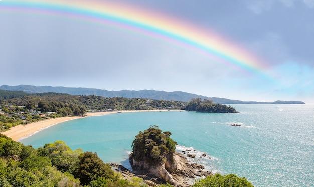 Beaux paysages sur ocean beach, en nouvelle-zélande.