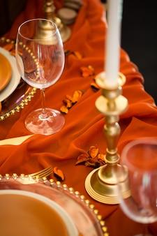 Beaux plats sur la table