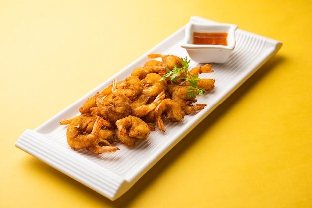 Beignets de crevettes ou bajji de crevettes ou jheenga pakodaãƒâƒã'â'ãƒâ'ã'â ou kolambi ou zinga pakora, snack indien
