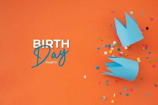 Bel anniversaire avec décoration de fête