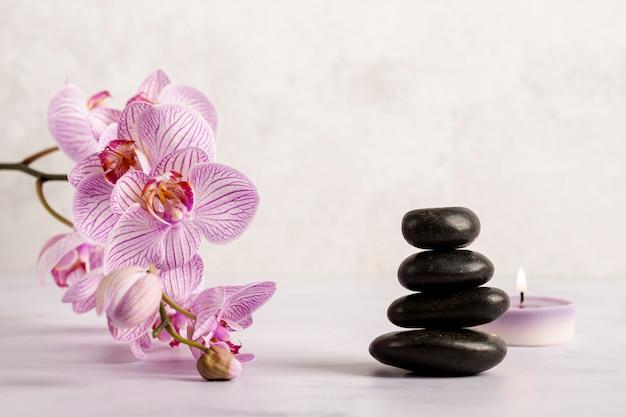 Bel arrangement avec des produits de spa