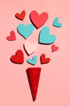 Bel assortiment d'amour sur rose
