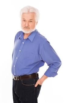 Bel homme âgé avec barbe