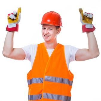 Bel homme travailleur