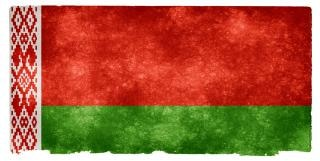 Belarus flag grunge endommagé
