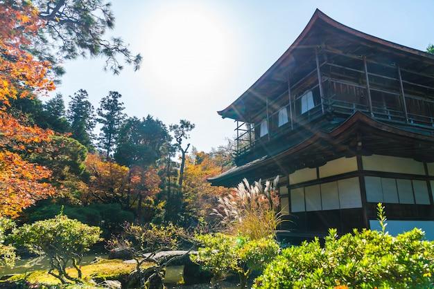 Belle architecture au temple silver pavillion ginkakuji