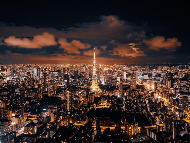 Belle architecture et bâtiment du paysage urbain de tokyo