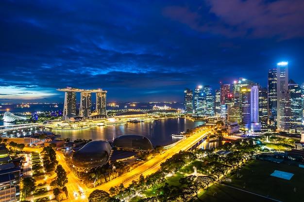Belle architecture bâtiment extérieur de la ville de singapour